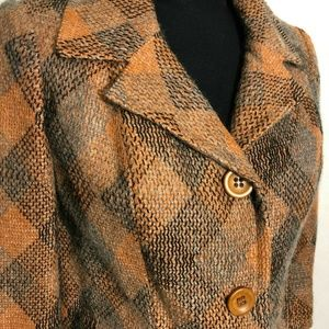 Vintage 2 pc suit 1940s 1950s Houndstooth